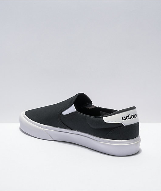 adidas Court Rally Black & White Slip-On Shoes