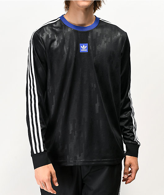 adidas Dodson jersey de malla de manga larga negra y azul