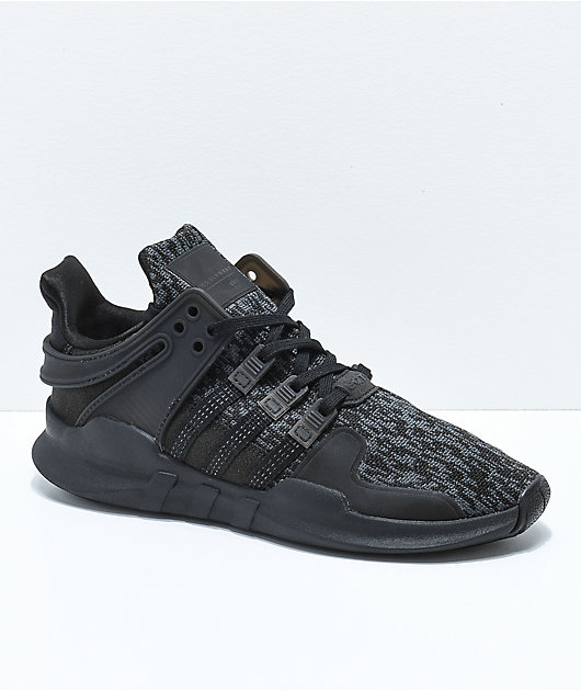 adidas EQT Support ADV Black Shoes | Zumiez