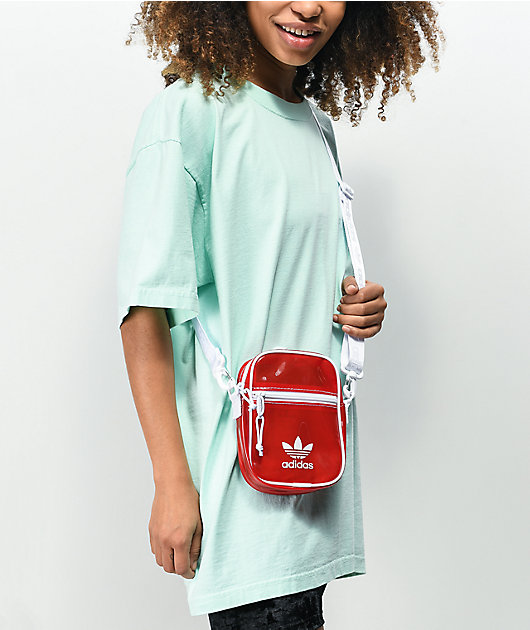 adidas Festival Tinted Red Shoulder Bag