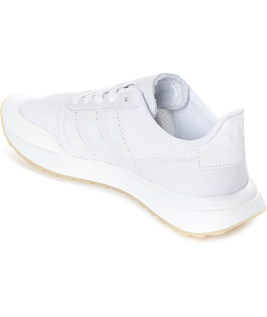 adidas Flashback All White Womens Shoes