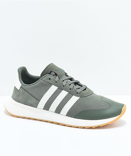 adidas Flashback Green & White Shoes | Zumiez