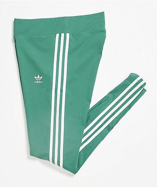 adidas Future Hydro leggings verdes de 3 rayas