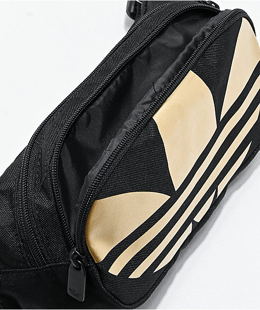 adidas Global Trefoil Black & Gold Fanny Pack