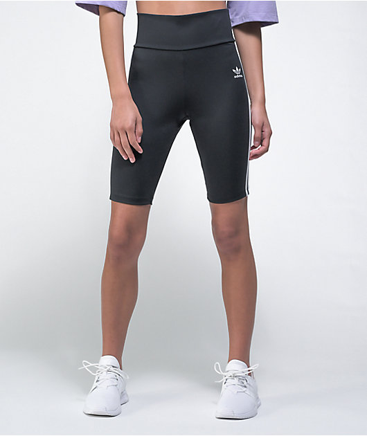 adidas High Waisted Black Bike Shorts