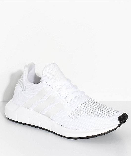 adidas Kids Swift Run White & Crystal Shoes