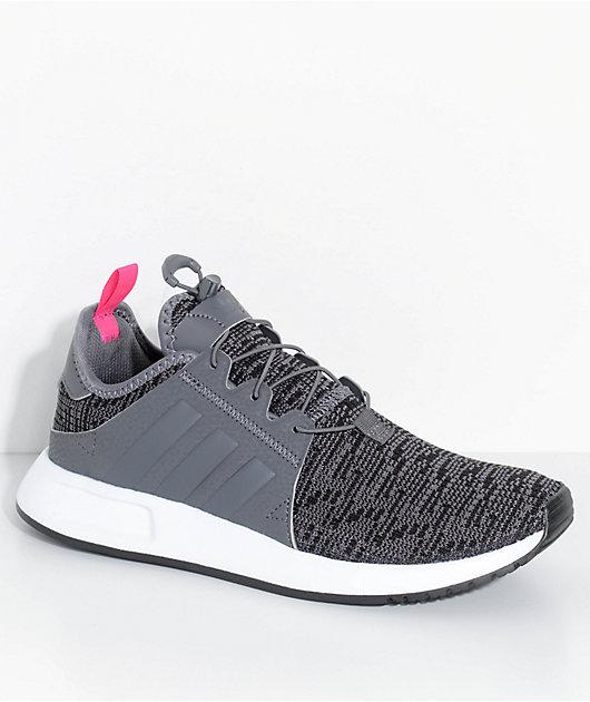 adidas Kids Xplorer Grey & White Shoes