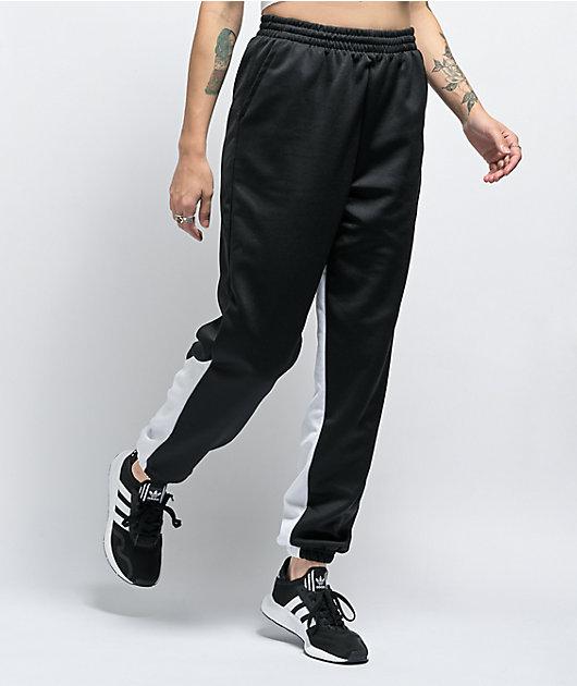 adidas Large Logo Black & White Jogger Sweatpants