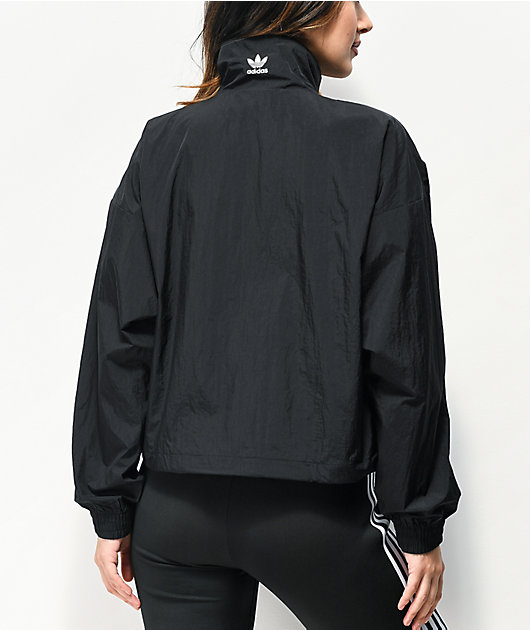adidas Large Logo Black Windbreaker Jacket
