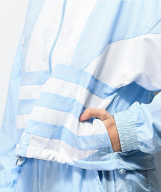 adidas Large Logo Blue Windbreaker Jacket