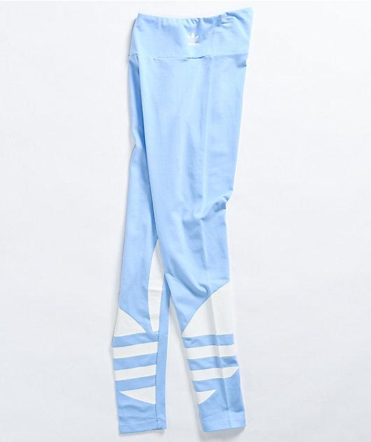 adidas Large Logo Light Blue Leggings
