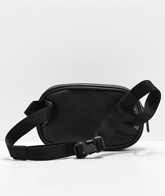 adidas Leather Black & Gold Fanny Pack