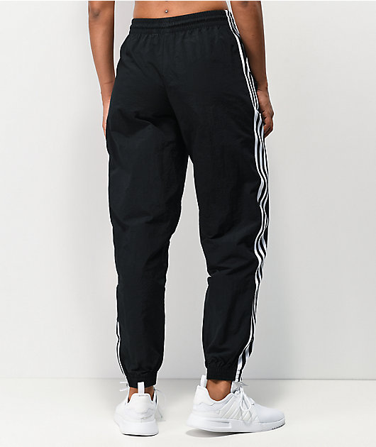 adidas Lock Up Black Nylon Track Pants