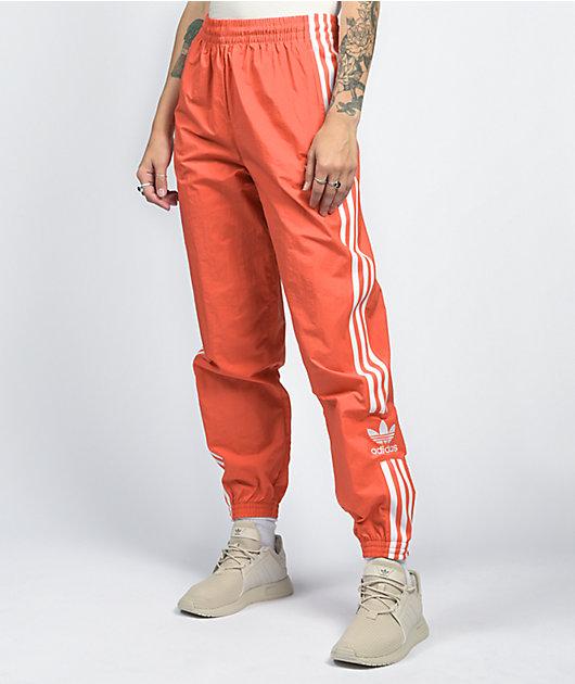 adidas Lock Up pantalones de chándal de nylon rojo