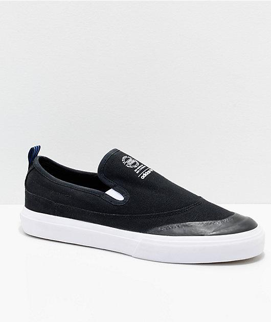 White \u0026 Blue Slip On Shoes | Zumiez