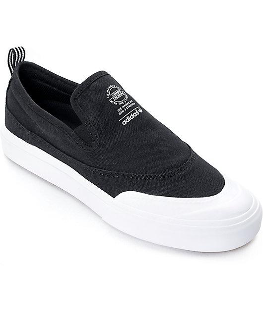 adidas Matchcourt Black & White Slip On Shoes
