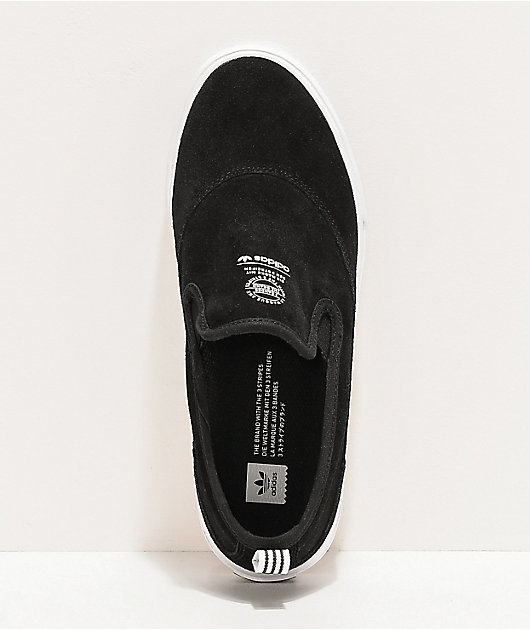 adidas Matchcourt zapatos de skate en negro, blanco y goma