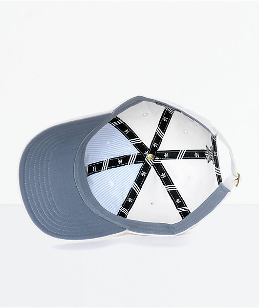 adidas Men's Trefoil Curved Bill White Strapback Hat