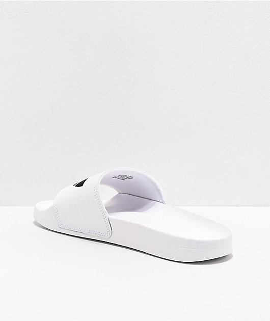 adidas Mens Adilette Lite White & Black Slide Sandals