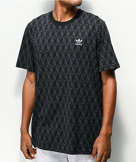 adidas Mono Allover Black T-Shirt