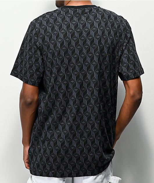 adidas Mono Allover camiseta negra