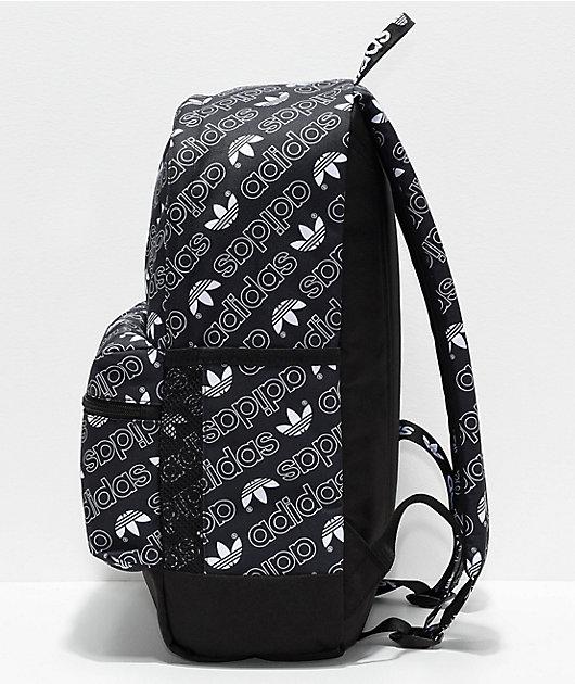 adidas National Allover Script Black & White Backpack