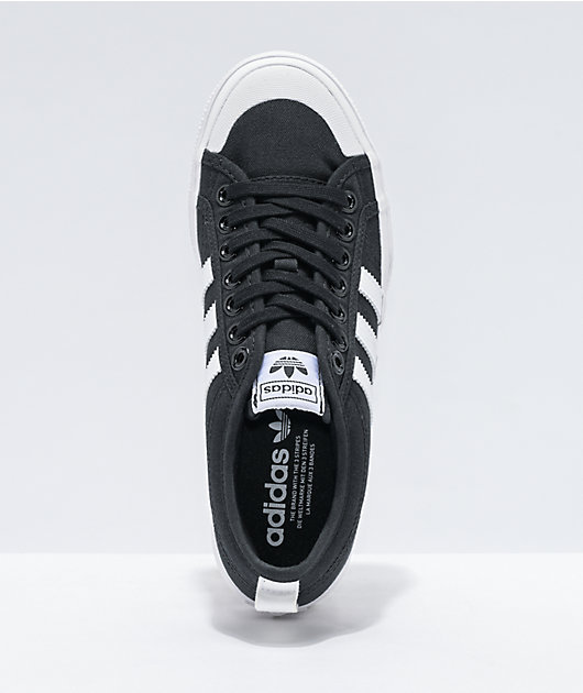 adidas Nizza Black & White Platform Shoes