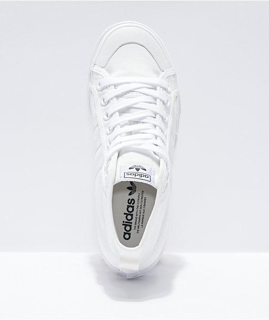 adidas Nizza Mid White Platform Shoes
