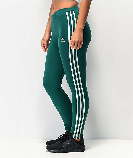 adidas Noble leggings verdes de 3 rayas