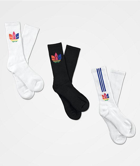 adidas Originals 3D Trefoil 3 Pack Crew Socks