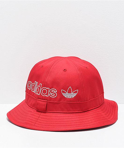adidas Originals Bell Scarlet Bucket Hat