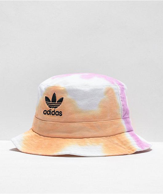 adidas Originals Color Wash Peach Tie Dye Bucket Hat