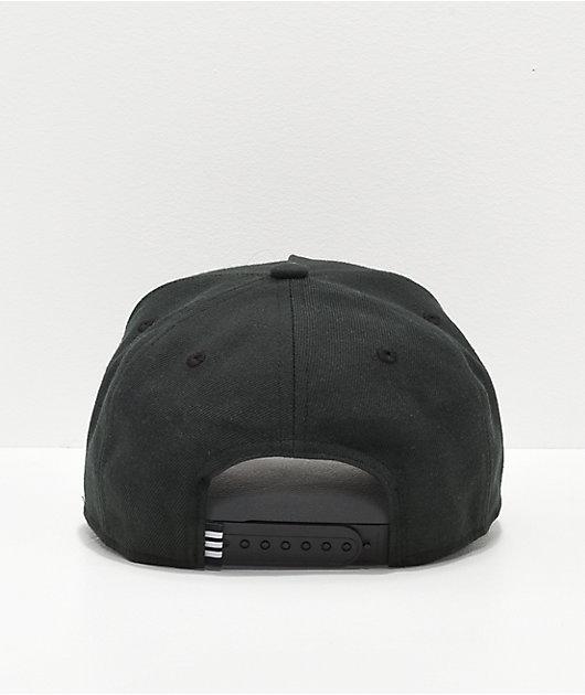 adidas Originals Dart Pre-Curve Black Snapback Hat