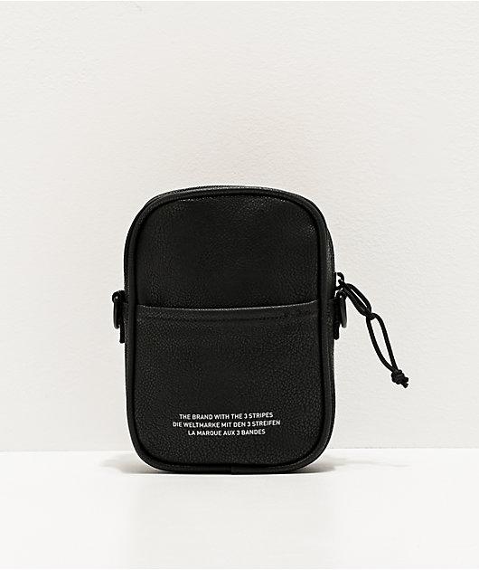adidas Originals Faux Leather Black Shoulder Bag