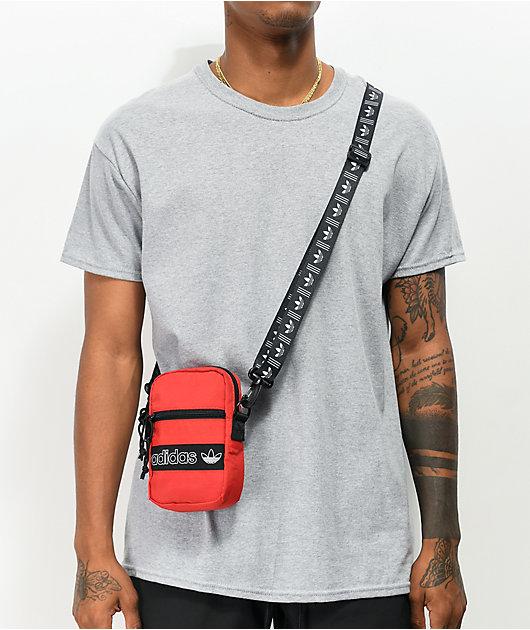 adidas Originals Festival Red & Black Shoulder Bag