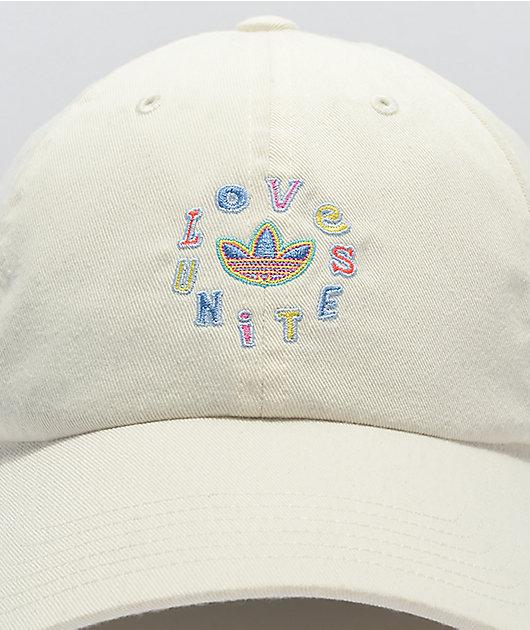 adidas Originals Love Unites White Strapback Hat