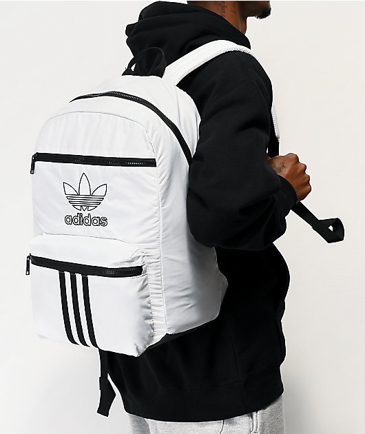 adidas Originals National 3 Stripe White Backpack