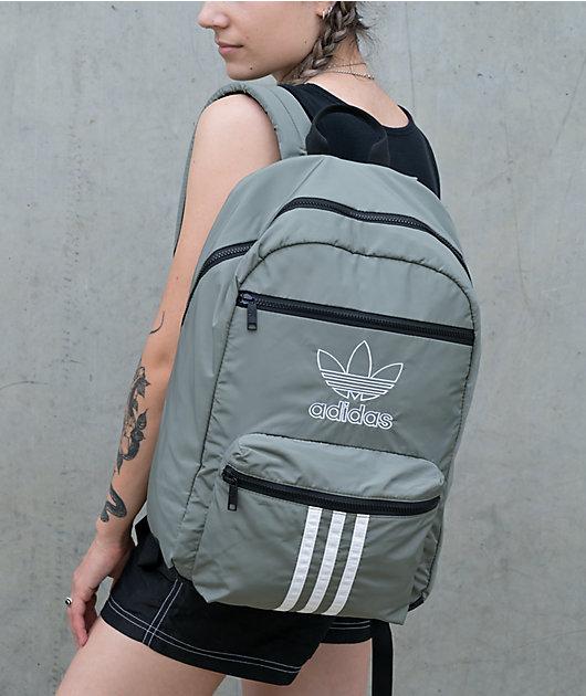 adidas Originals National 3 Stripes Olive Green Backpack