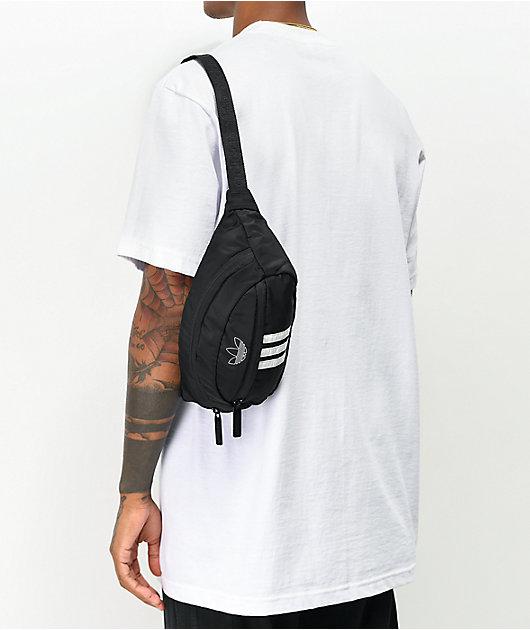 adidas Originals National Black & White Fanny Pack