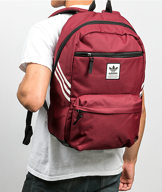 adidas Originals National Recycled Red Backpack