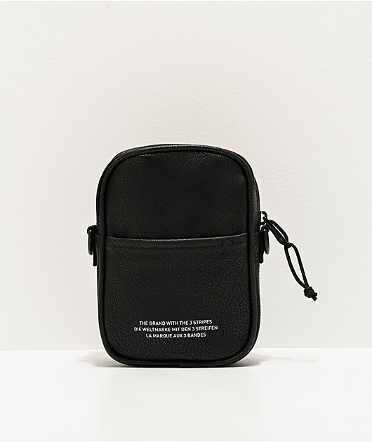 adidas Originals PU Leather bolso de hombro negro