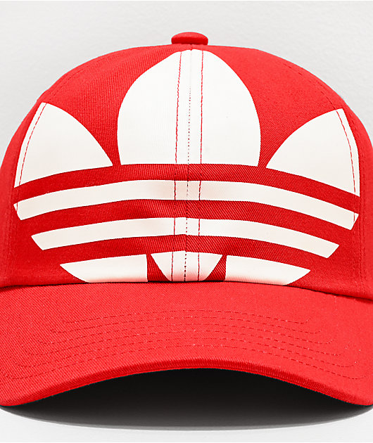 adidas Originals Relaxed Big Trefoil Lush Red & White Strapback Hat