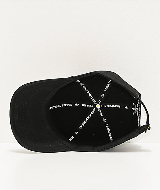 adidas Originals Relaxed Big Trefoil gorra negra y blanca
