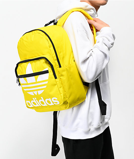 adidas Originals Trefoil Pocket Yellow Backpack