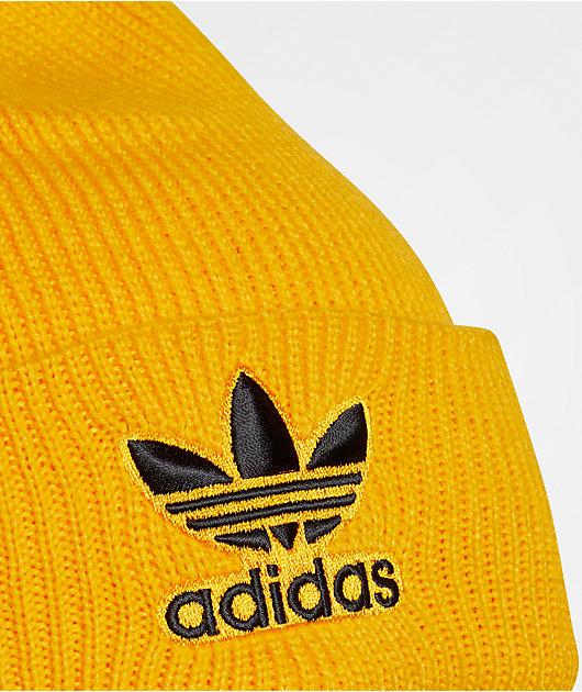 adidas Originals Trefoil Yellow & Black Beanie