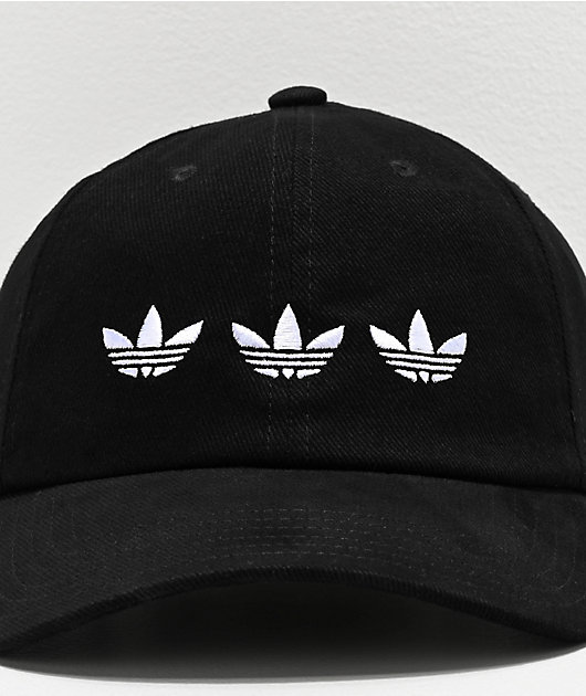 adidas Originals Triple Trefoil Black Strapback Hat