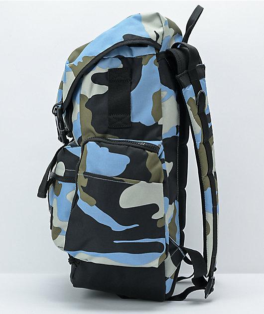 adidas Originals Utility 4.0 Blue, Black, & Grey Camo Backpack