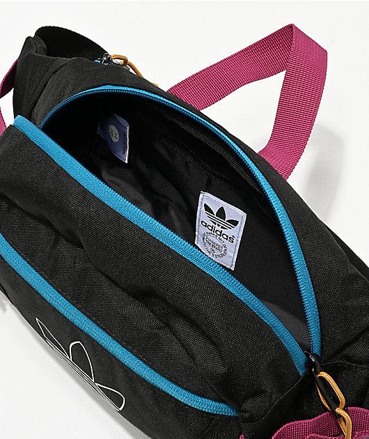 adidas Originals Utility Black, Teal & Berry Crossbody Bag