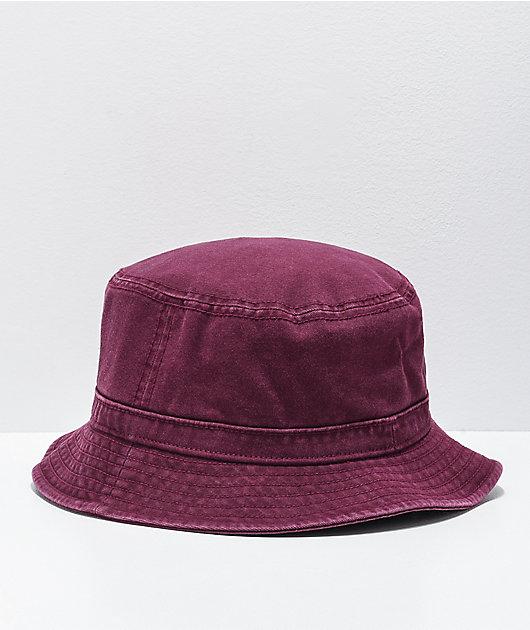 adidas Originals Washed Maroon Bucket Hat
