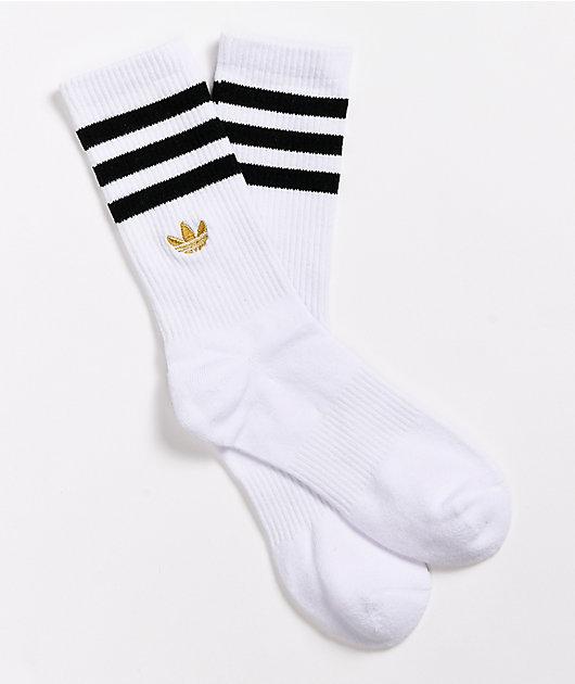 adidas Originals White & Black Crew Socks